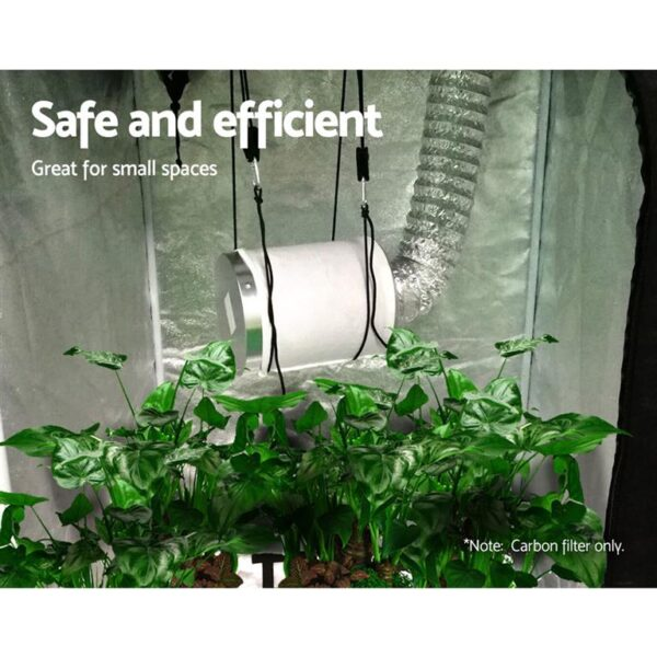 Greenfingers Hydroponic Activated Carbon Filter Grow Tent Ventilation Kit 6 inch