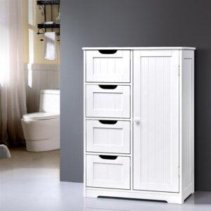 Artiss Bathroom Tallboy Storage Cabinet - White
